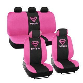 Warner Brothers Universal Fit Supergirl Seat Covers Accessory Set