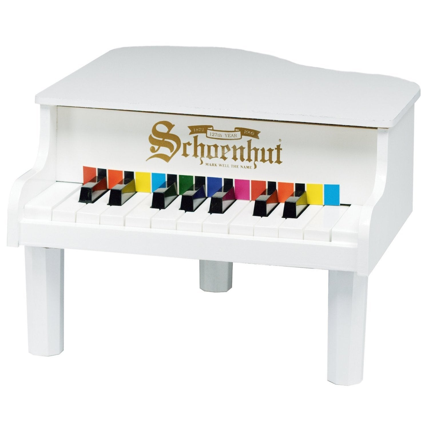 Schoenhut 18-key White Mini Baby Grand Piano (White)