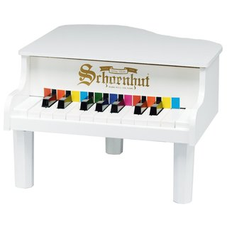 Schoenhut 18-key White Mini Baby Grand Piano