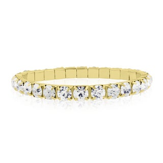 18k Gold Overlay 20ct Diamond Crystal Bracelet