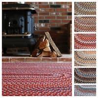 Augusta Oval Braided Wool Rug by Rhody Rug (7' x 9') - 7' x 9'