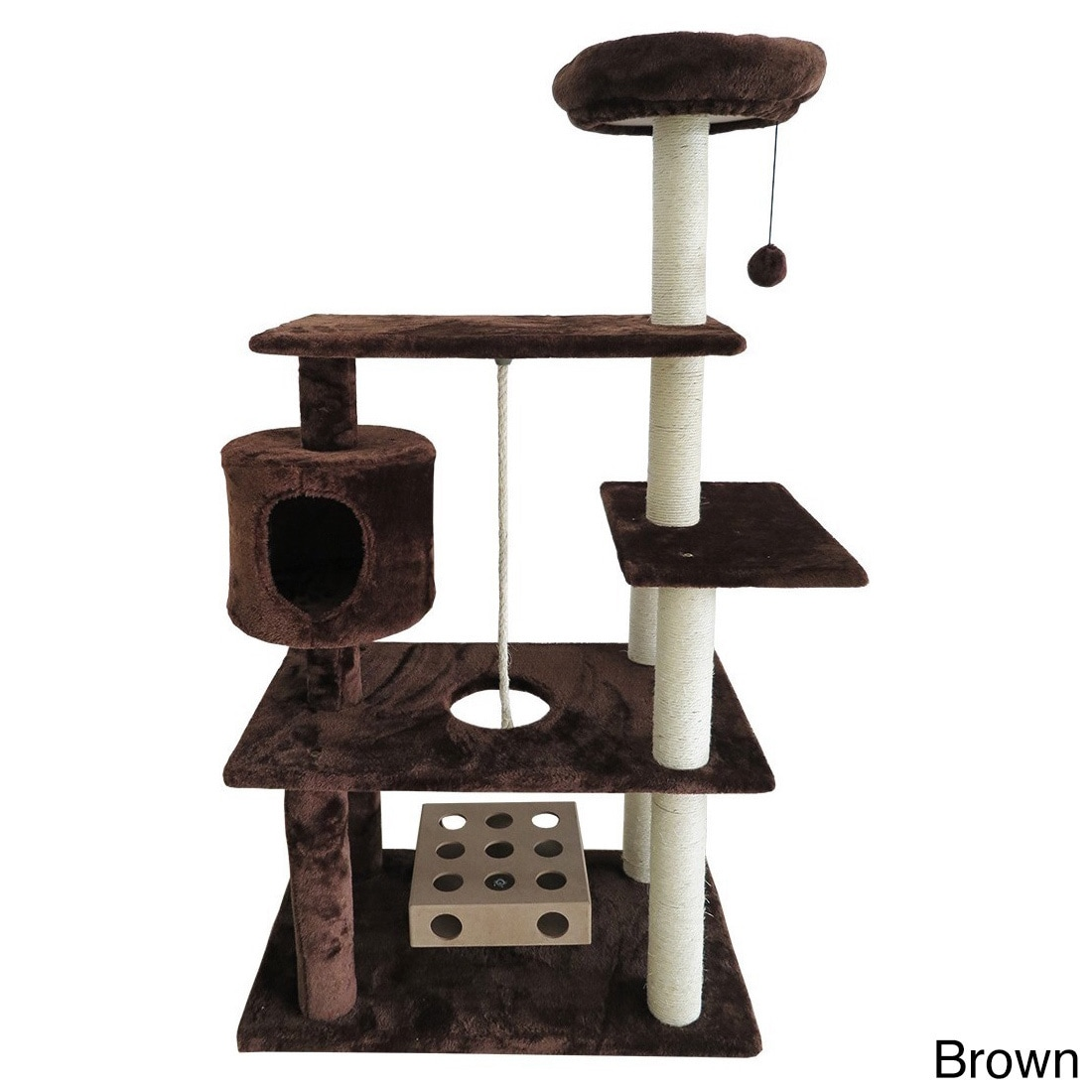 McKlein Deluxe Playground Cat Tree House with Cat-IQ Busy...