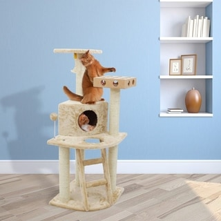 Deluxe Cat Tree House Clubhouse with Cat toy IQ Busy Box