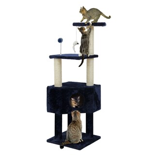 Cat Clubhouse Playground Cat Tree (Option: Blue)