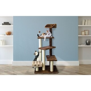 Tiger Tough Play Stairs Cat Tree House with Cat-IQ Busy Box