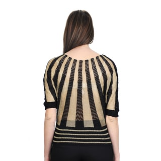 J. Furmani Women's Knitted Two-tone Top