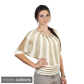 J. Furmani Women's Knitted Two-tone Top