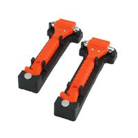 CommuteMate Universal Emergency Hammer Window Punch and Seat Belt Cutter (Pack of 2) - Orange