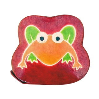 Handmade Frog Leather toy Bank (India)