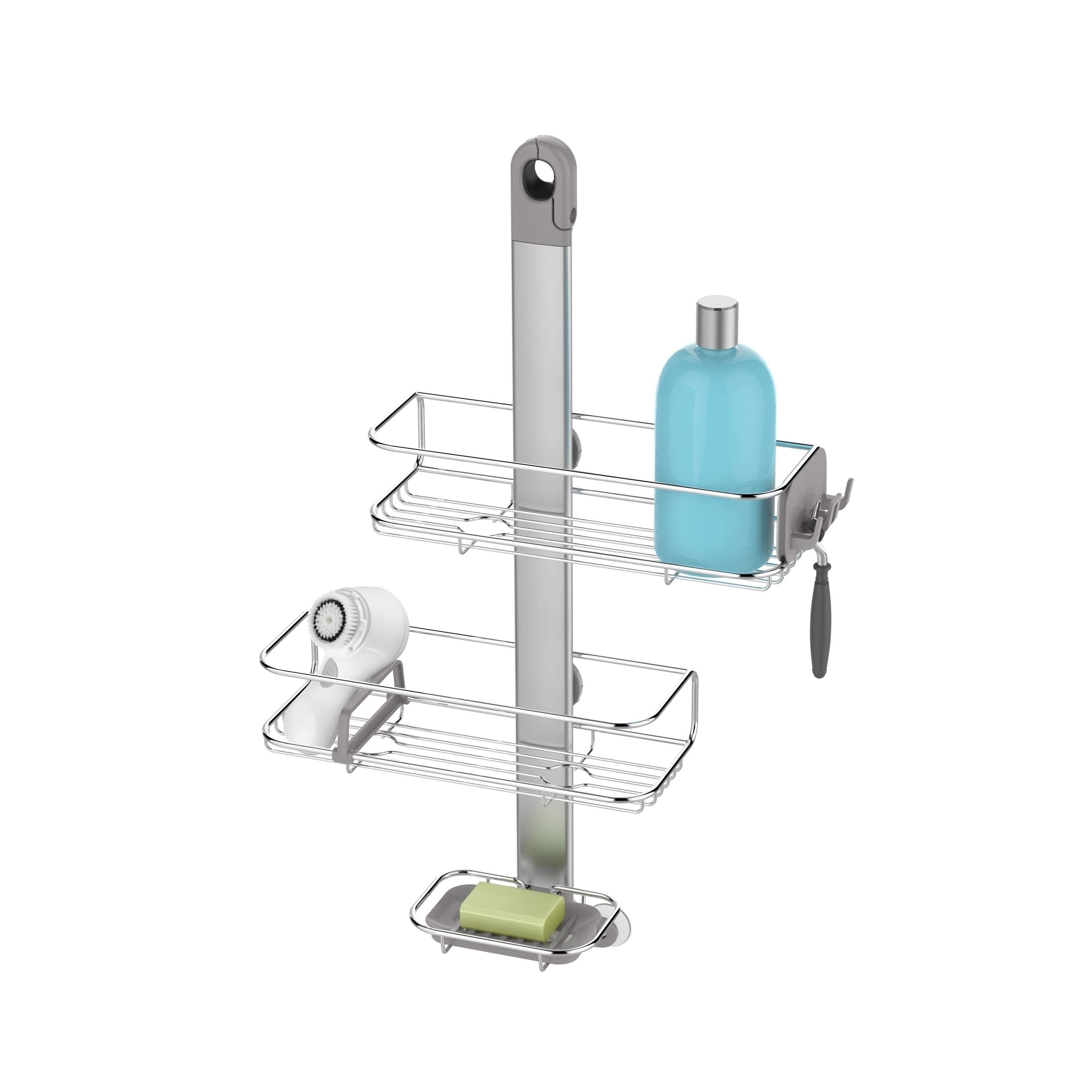 simplehuman Adjustable Shower Caddy Stainless Steel/ Anod...