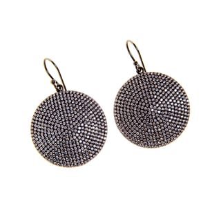 Rhodium-plated Sterling Circle Earrings (India)