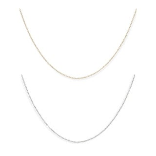 14k Gold Children's 13-inch Carded Rope Chain Necklace