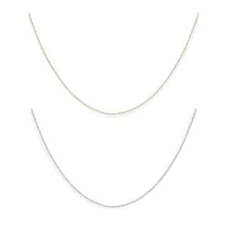 14k Gold Children's 15-inch Carded Rope Chain Necklace