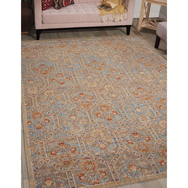Barclay Butera Moroccan Mineral Area Rug by Nourison (5'3 x 7'5) - 5'3 x 7'5