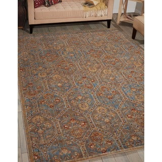 Barclay Butera Moroccan Deep Sea Area Rug by Nourison (7'3 x 9'9)