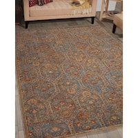 Barclay Butera Moroccan Deep Sea Area Rug by Nourison - 7'3 x 9'9