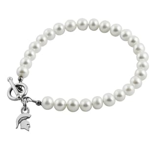Michigan State Freshwater Pearl Bracelet (5-6mm)
