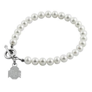 Ohio State Freshwater Pearl Bracelet (5-6mm)