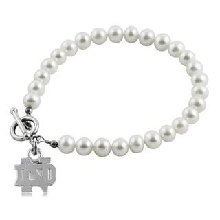 Notre Dame Freshwater Pearl Bracelet (5-6mm)