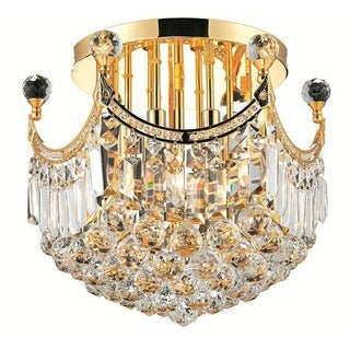 Elegant Lighting 16-inch 6-light Gold Royal Cut Crystal Clear Flush Mount