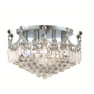 Elegant Lighting 9-light Chrome 20-inch Royal Cut Crystal Clear Flush Mount