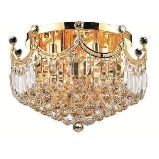 Elegant Lighting 9-light Gold 20-inch Royal Cut Crystal Clear Flush Mount