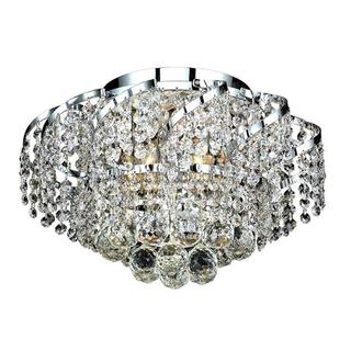 Elegant Lighting 6-light Chrome 16-inch Royal Cut Crystal Clear Flush Mount