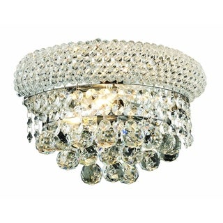 Elegant Lighting 12-inch 2-light Chrome Royal Cut Crystal Clear Wall Sconce