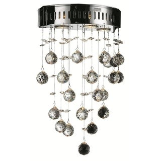 Elegant Lighting 3-light Chrome 12-inch Royal Cut Crystal Clear Wall Sconce