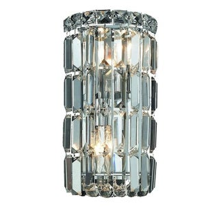 Elegant Lighting 6-inch 2-light Chrome Royal Cut Crystal Clear Wall Sconce