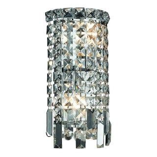 Elegant Lighting 6-inch 2-light Royal Cut Chrome Crystal Clear Wall Sconce