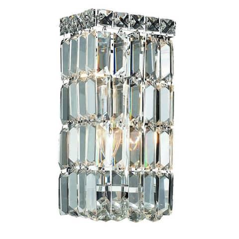 Elegant Lighting Crystal Clear 2-light Chrome 6-inch Royal Cut Wall Sconce
