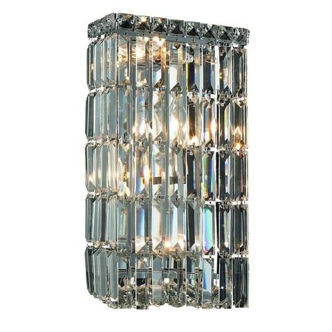 Elegant Lighting 4-light 8-inch Chrome Royal Cut Crystal Clear Wall Sconce