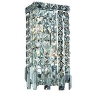Elegant Lighting 2-light Chrome 6-inch Royal Cut Crystal Clear Wall Sconce