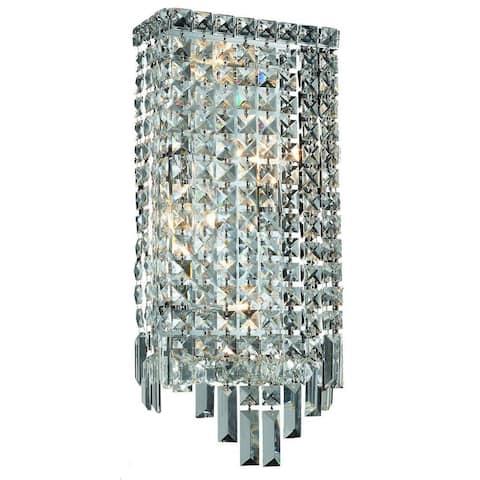 Elegant Lighting 4-light Chrome 8-inch Royal Cut Crystal Clear Wall Sconce