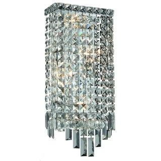 Elegant Lighting 4-light Chrome 8-inch Royal Cut Crystal Clear Wall Sconce