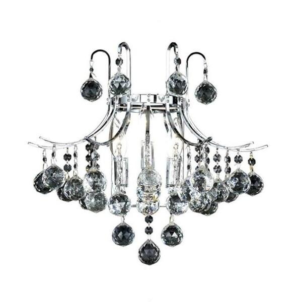 Elegant Lighting 3-light Chrome 16-inch Royal Cut Crystal Clear Wall Sconce