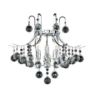 Elegant Lighting 3-light Chrome 16-inch Royal Cut Crystal Clear Wall Sconce