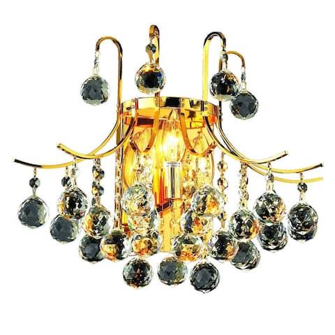 Elegant Lighting 3-light Gold 16-inch Royal Cut Crystal Clear Wall Sconce