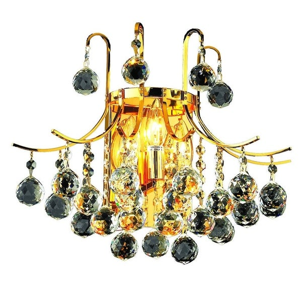Elegant Lighting 3-light Gold 16-inch Royal Cut Crystal Clear Wall Sconce
