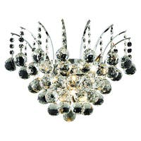 Elegant Lighting Chrome 16-inch Royal Cut Crystal Clear Wall Sconce