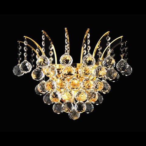 Elegant Lighting Gold 16-inch Royal Cut Crystal Clear Wall Sconce