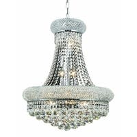 Elegant Lighting 14-light Chrome 20-inch Royal Cut Crystal Clear Hanging Fixture