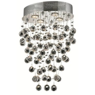 Elegant Lighting 4-light Chrome 16-inch Royal Cut Crystal Clear Hanging Fixture