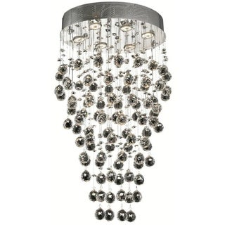 Elegant Lighting 6-light Chrome 20-inch Royal Cut Crystal Clear Hanging Fixture