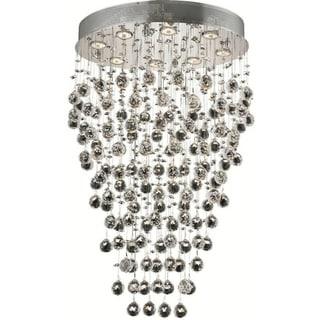 Elegant Lighting 8-light Chrome 24-inch Royal Cut Crystal Clear Hanging Fixture