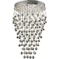 Elegant Lighting 8-light Chrome 24-inch Royal Cut Crystal Clear Hanging Fixture