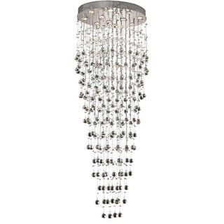 Elegant Lighting 12-light Chrome 28-inch Royal Cut Crystal Clear Large Hanging Fixture