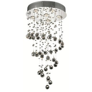 Elegant Lighting 6-light Chrome 18-inch Royal Cut Crystal Clear Hanging Fixture