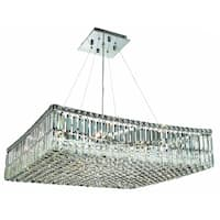 Elegant Lighting 12-light Chrome 28-inch Royal Cut Crystal Clear Hanging Fixture